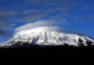 Mountain Kilimanjaro covered in snow.