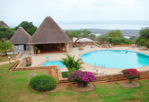 Pool area at Akagera Game Lodge.