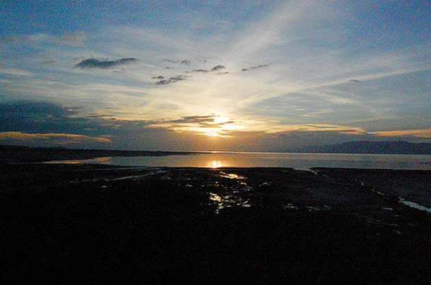 sunset at Lake Eyasi