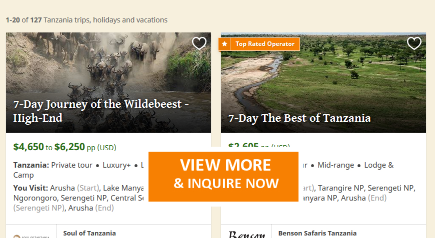 7 Day Safari Tanzania, Best Adventure Destinations