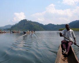 Canoeing in Uganda