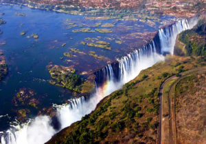 The Victoria Falls, Zimbabwe.