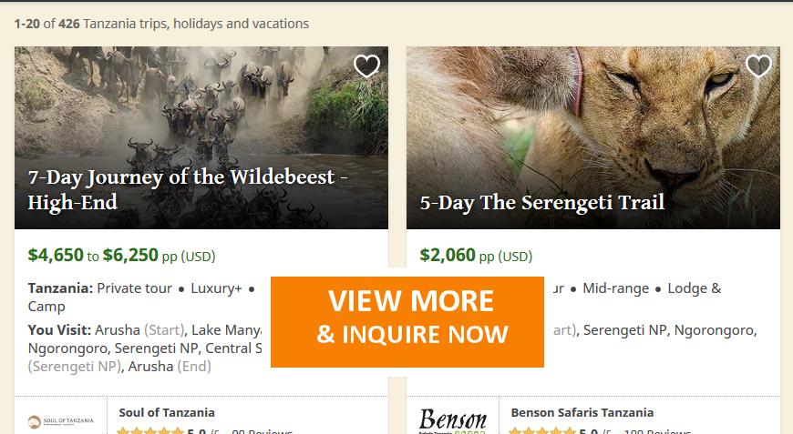 Best Tanzania Safari Tours, Adventure Holidays, Visit Tanzania